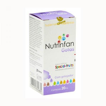 Suplemento Vitamínico Nutrinfan Infantil Special Fruits Gotas com 20ml + gotejador