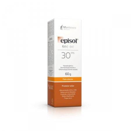 Protetor Solar Facial Episol Sec OC Pele Oleosa FPS30
