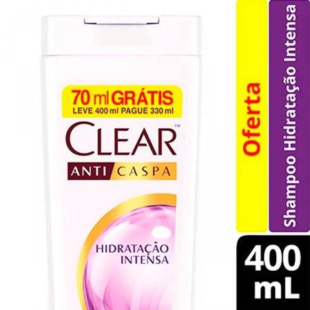 Shampoo Anticaspa Clear Hidratação Intensa