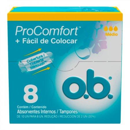Absorvente Interno O.B. ProComfort Médio
