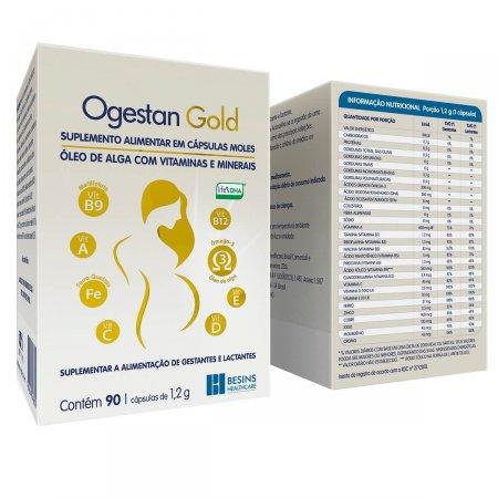Suplemento Alimentar Ogestan Gold com 90 cápsulas