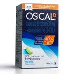 Oscal D Sanofi Aventis 500mg + 400Ui 60 Comprimidos Revestidos