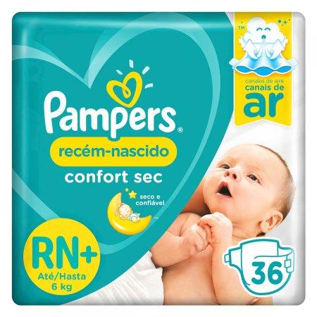 Fralda Pampers Recém-Nascido Confort Sec RN com 36 unidades