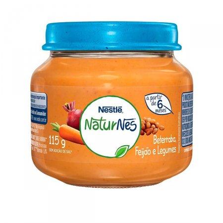 Papinha Nestlé Naturnes Beterraba, Caldo de Feijão e Legumes 115g