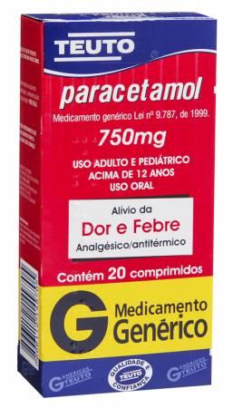 Paracetamol 750mg Sabor Laranja