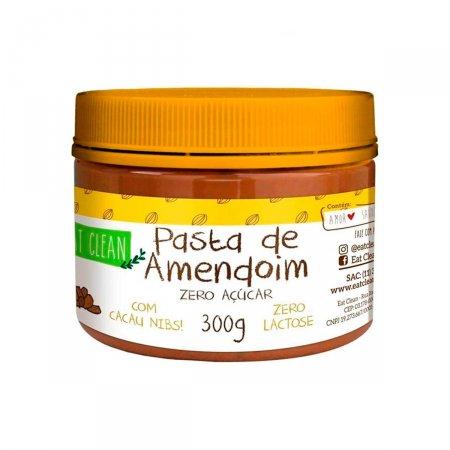 Pasta de Amendoin Eat Clean com Cacau Nibs Zero Açúcar