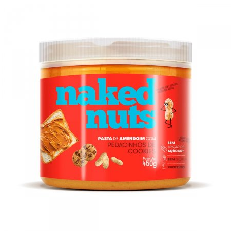 Pasta de Amendoin Naked Nuts com Cookies de Chocolate com 450g