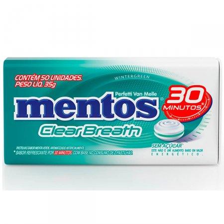 Pastilha Mentos Clear Breath Wintergreen 35g |