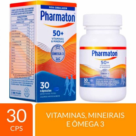 Suplemento Alimentar Pharmaton 50+ com 30 cápsulas