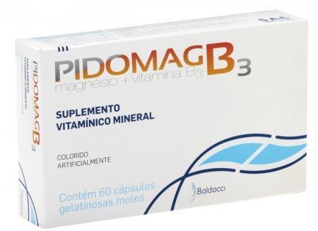 Suplemento Vitamínico Mineral Pidomag B3 com 60 cápsulas