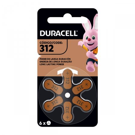 Pilha Auditiva Duracell 312