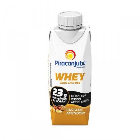 Piracanjuba Whey Zero Lactose Pasta de Amendoim com 250ml Foto 1