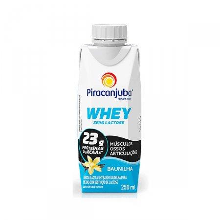 Piracanjuba Whey Bebida Láctea Zero Lactose Baunilha com 250ml