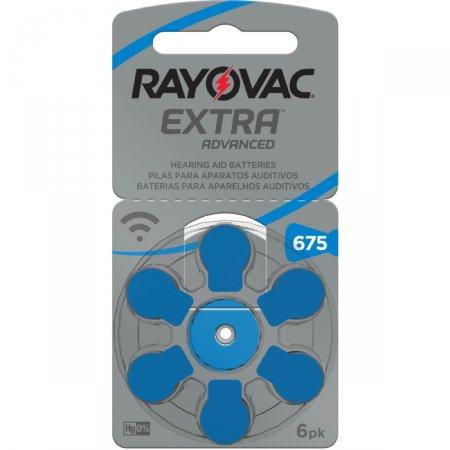 Pilha Rayovac para Aparelhos Auditivos Extra Advanced Tamanho 675