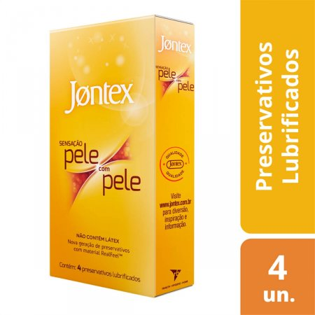 Camisinha Jontex Sensação Pele com Pele com 4 unidades