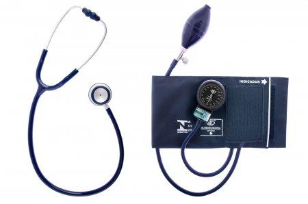 Kit Bic Aparelho de Pressão Com Esteto Duplo Azul Black Adulto