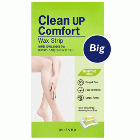 MISSHA CLEAN UP COMFORT WAX STRIP BIG
