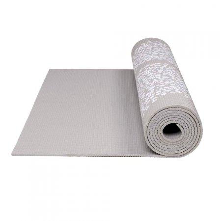 Tapete de Yoga Premium com Estampa Primavera Cinza Atrio - ES220