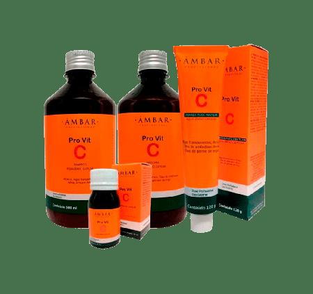Kit Monovit PRO Vita C Ampola 30ml + Shampoo 500ml + Máscara 500ml + Creme de Pentear 120g
