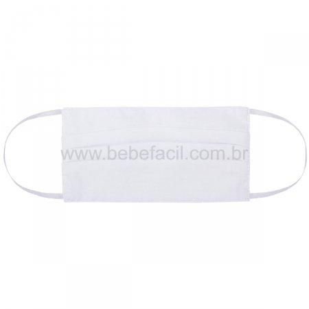 Máscara de Proteção Teen em Tecido Duplo de Algodão Branca - Roana