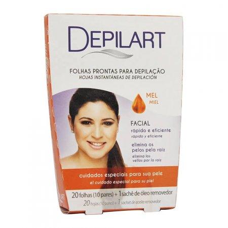 Folhas Prontas Para Depilação Facial Depilart Mel 20 Folhas