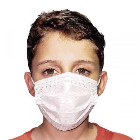 Máscara Descartável Ortho Pauher Infantil Dupla Camada com Filtro SMS 50 unidades