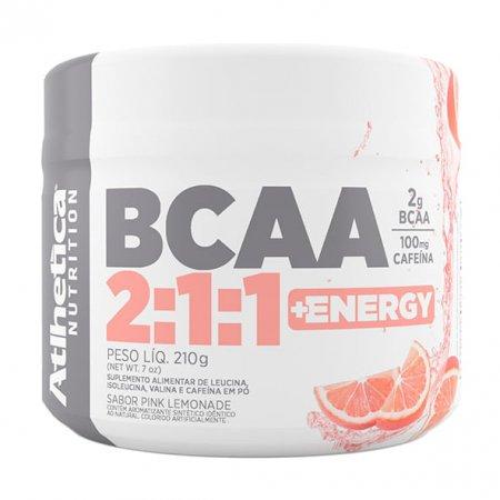 BCAA 2:1:1 e Energy Pink Lemonade Atlhetica 210g