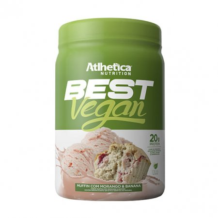 Best Vegan Muffin Atlhetica Morango e Banana 500g