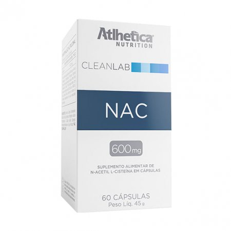 Cleanlab NAC N-Acetyl L-Cysteine Atlhetica 60 cápsulas 45g