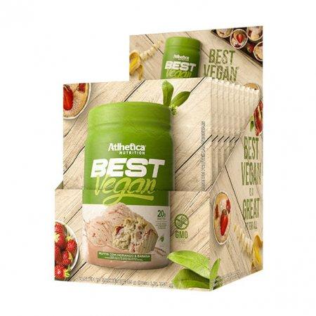 Best Vegan Muffin Atlhetica Morango e Banana 10 Sachês 35g