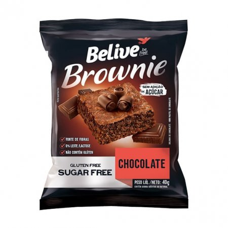 Brownie Belive Zero Sem Glúten Chocolate 40g