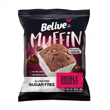 Muffin Double Belive Chocolate Zero 40g