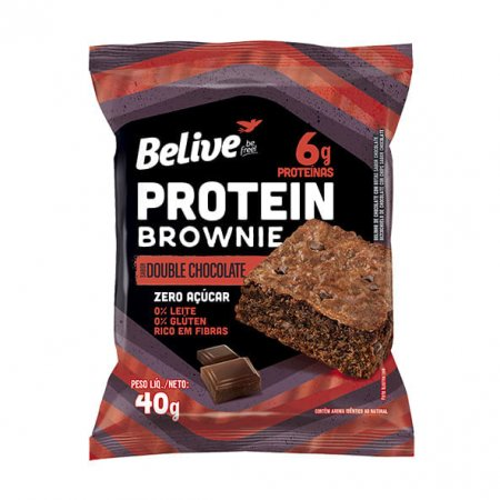 Protein Brownie Belive Double Chocolate Zero 40g
