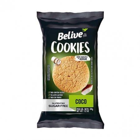 Cookie Belive Zero Sem Glúten com Pedaços de Coco 34g