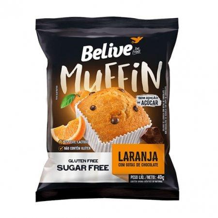 Muffin Belive Sabor Laranja com Chocolate Zero 40g