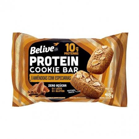 Protein Cookie Bar Belive Amêndoas e Especiarias Zero 48g