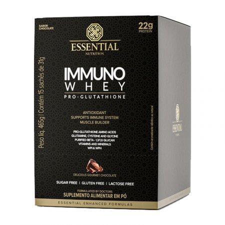 Immuno Whey Pro Glutat Essential Nutrition Cacao 15x31g