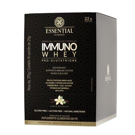 Immuno Whey Pro Glutat Essential Nutrition Baunilha 15x25g