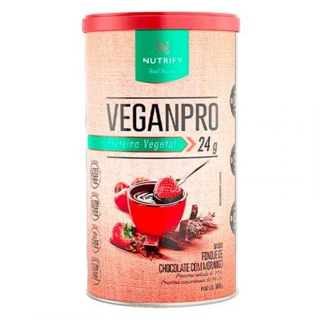 Veganpro Fondue Nutrify Chocolate e Morango 550g