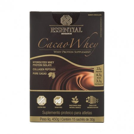 Cacao Whey Essential Nutrition Chocolate 15 x 30g