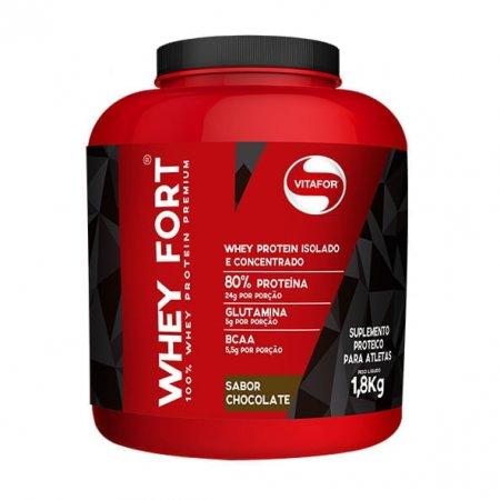 Whey Fort Vitafor sabor Chocolate 1800g