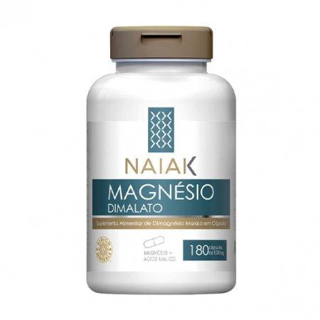 Magnésio Dimalato Naiak 180 cápsulas
