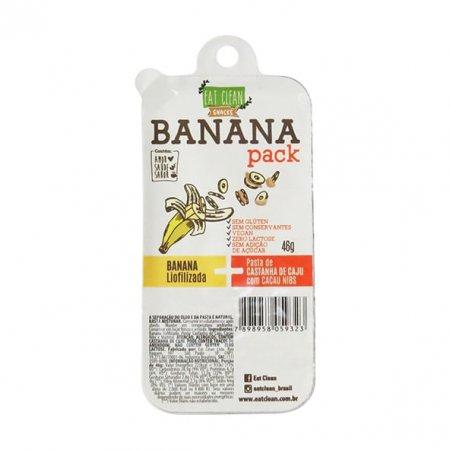 Banana Pack Castanha Cacau Nibs Eat Clean 46g