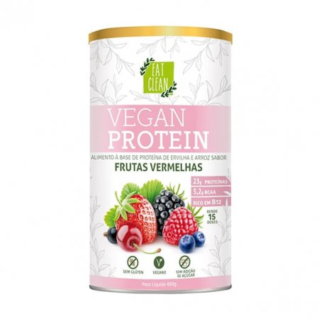 Vegan Protein Eat Clean Frutas Vermelhas 450g
