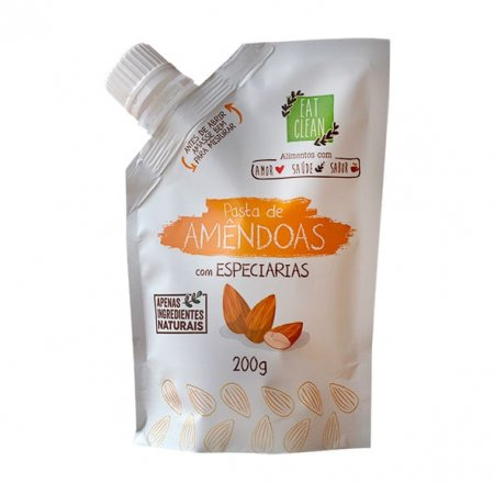 Pasta Amêndoas e Mix Especiarias Eat Clean 200g