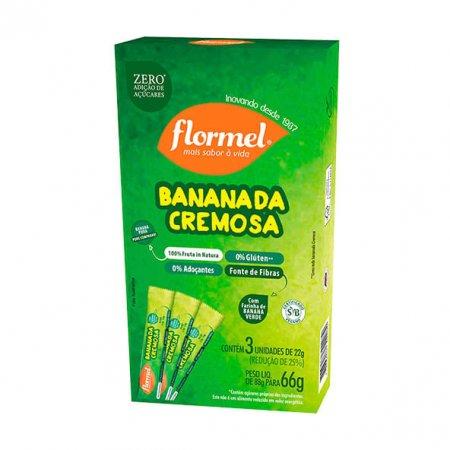 Bananada Cremosa Zero Flormel 3 unidades