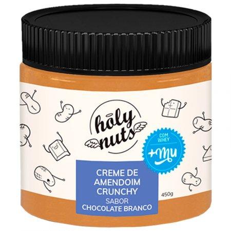 Creme de amendoim Holy Nuts chocolate branco 450g