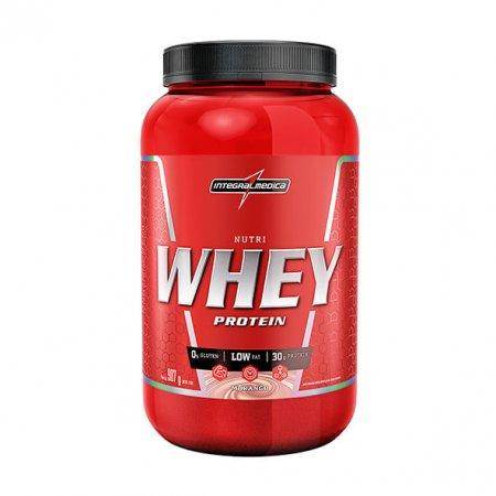 Nutri Whey Protein Integralmedica Morango 907g