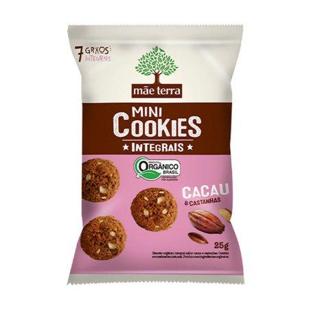 Cookies Mãe Terra Orgânico Cacau e Castanhas 25g