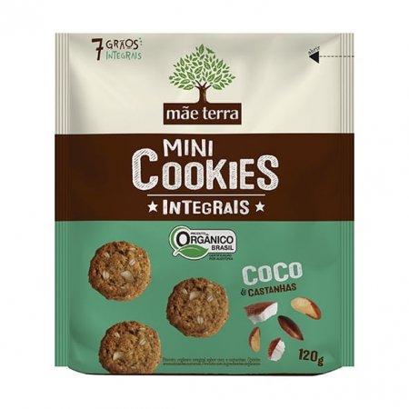 Cookies Mãe Terra Orgânicos Coco e Castanhas 120g